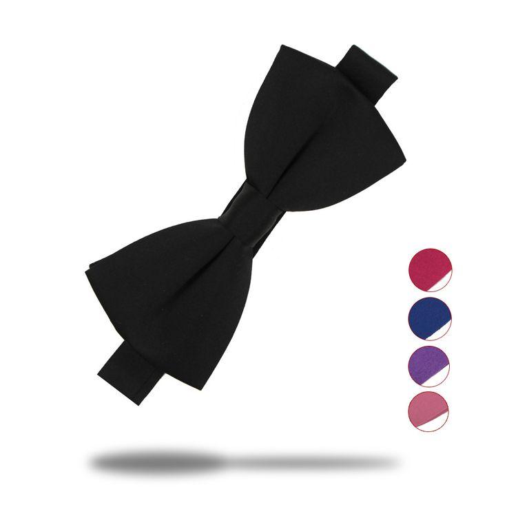 16色のファッションの弓ネクタイ用男性ボウタイタキシードクラシックソリッドカラーウェディングパーティーレッドブラックホワイトグリーン蝶ネクタイブランド