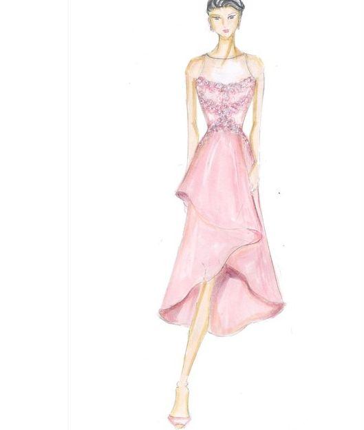 Bridesmaid Sketch & Illustration.  For pricing, sizing, and ordering details please email us at nmayinda@gmail.com, Whatsapp us at 08111047891, or BB us at 2B07B968.