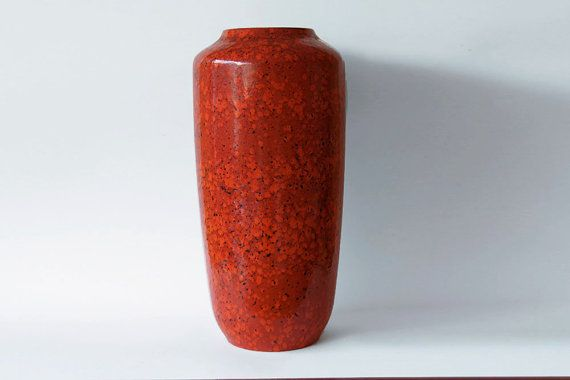 Large West German Red Floor Vase   Europ Linie by 1001vintage 151,78€