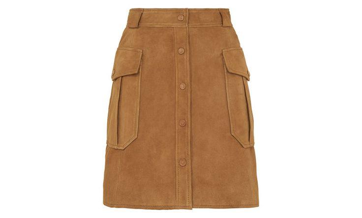 Suede Pocket Skirt, Tan | WHISTLES