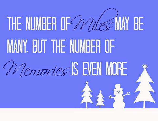 "A free printable gift tag perfect for sending to far-away friends or family: ""The Number of Miles May Be Many, But the Number of Memories Is Even More"". #NorthpoleFun #shop"
