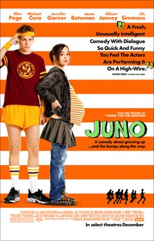 The Movie Juno tells the story of teen Juno who gets pregnant and must choose adoptive parents. Juno views childbirth and marriage as sacred. The film portrays childbirth and life lessons as Juno picks the most fit married couple to adopt her baby, as Juno (god) influences marriage. The film teaches the faults of marriage when the father she chooses starts to gain feelings for Juno. It shows the impact of infidelity that Juno and Jupiter know.