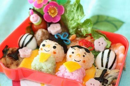 あっぷるmamaのお弁当-ひな祭り弁当