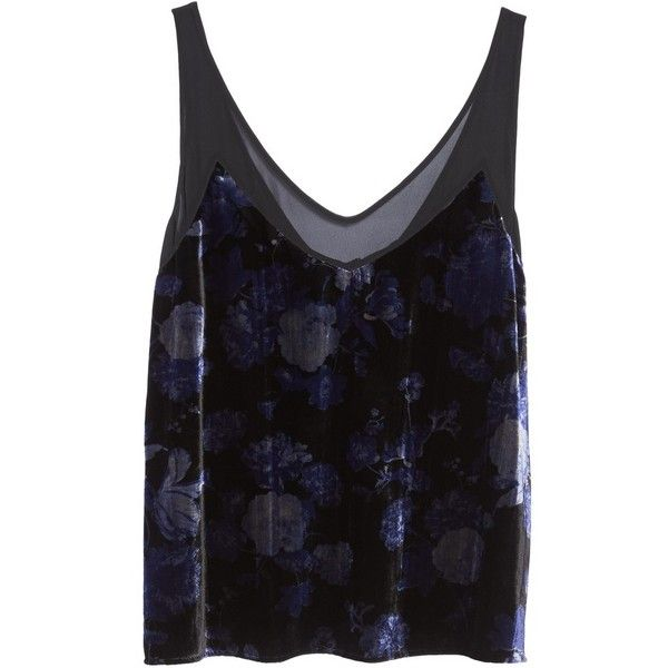 Plus Size Women's Lucky Brand Floral Velvet Cami ($40) ❤ liked on Polyvore featuring plus size cami, floral print cami, floral camisole, plus size camisoles and women's plus size camisoles