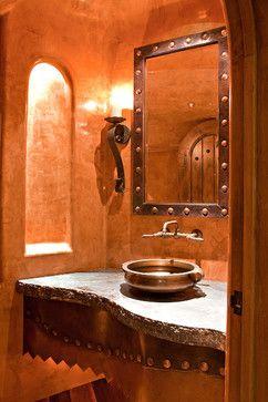 Powder Room 2 - traditional - powder room - phoenix - Mooney Design Group, Inc.