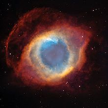 Planetary Nebula: not actually a planet, but a star that has exploded! This one is the Helix Nebula.