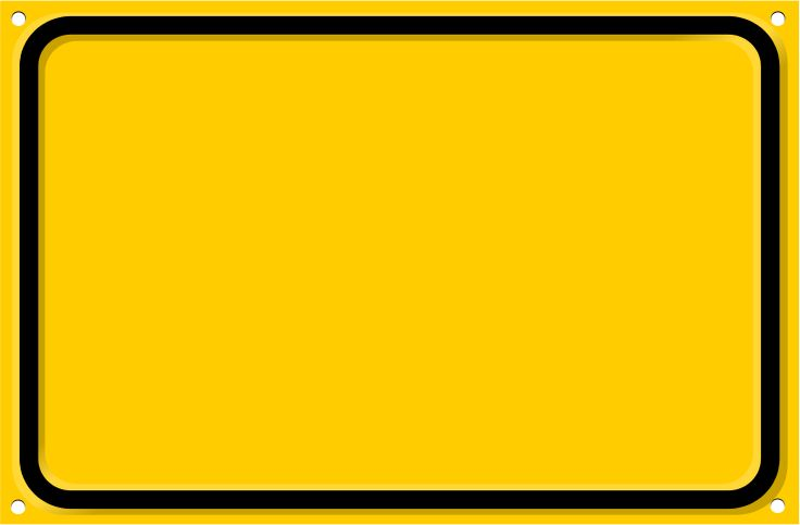 road sign rectangal blank
