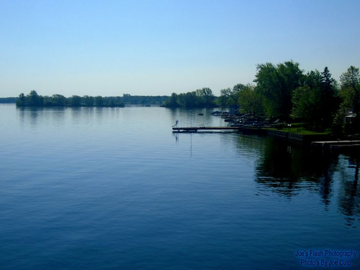 Lovely Victoria day 2016 Morning at Henessey Point on the Bay of Quinte as seen from the Norris Whitney Bridge entering Prince Edward County