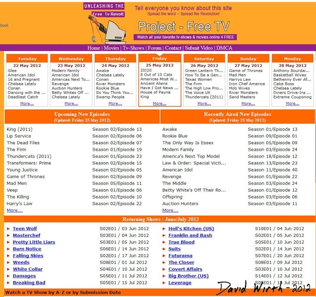 project free tv episode guide list schedule stream show online
