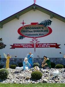 Bronners Christmas Store in Frankenmuth, Michigan. Biggest Christmas store i have ever been in!!