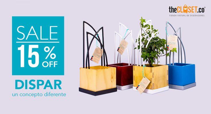 Aprovecha el descuento del 15% en artículos de diseño de la marca Dispar Diseño sólo en nuestra tienda online #RedDeDiseñadores