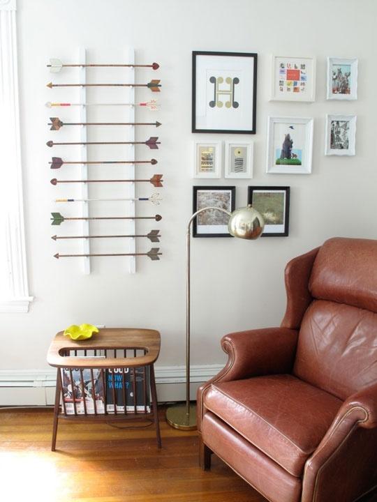 Love the random arrow rackDecor, Wall Art, Ideas, Living Spaces, Living Room, Hunger Games, Boys Room, Red Jet, Arrows Art