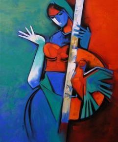 DevotionofLoveII Painting By Arvind Kolapkar