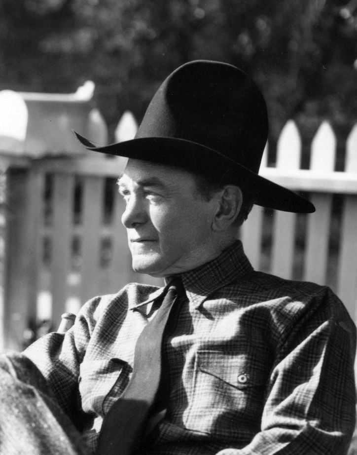 Harry Carey - candid shot of veteran cowboy movie star. (All to silent movies time) He played Hopalong Cassidy. He had a remarkable voice that one knew it was Harry Carey.