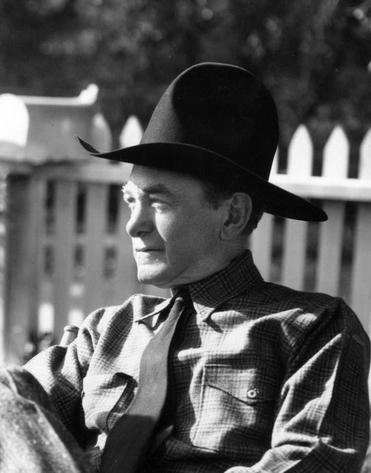 Harry Carey - candid shot of veteran cowboy movie star. Played Hopalong Cassidy