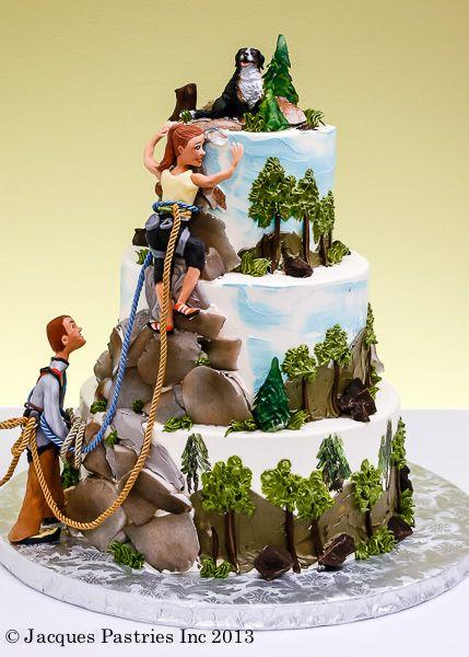Rock Climbing Cake.