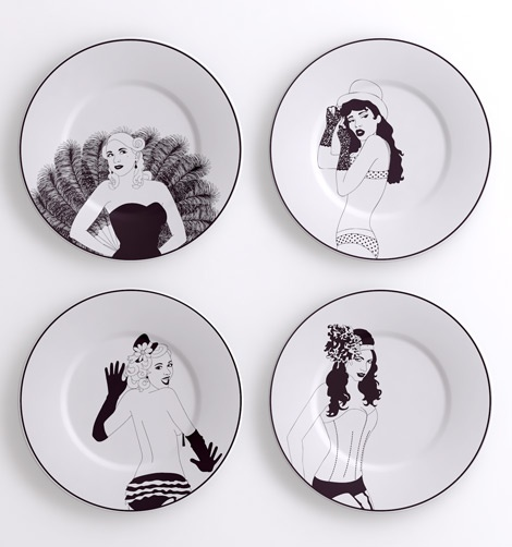 Stuck for dinner guests? Why not invite our sumptuous Burlesque ladies to join you! Our dinner plates are made and decorated in the UK using only the highest quality materials...about 39 usd