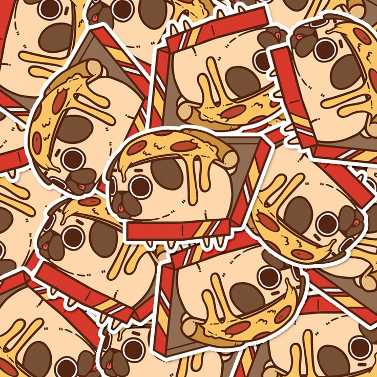 Have some pizza mind that these Puglie stickers will stick by you no matter what - soft-matte finished, waterproofed, and UV protected :D Adopt your own little Puglies from the Puglie Shop - reopening August 8th, 2016! (Source: pugliepug.com)