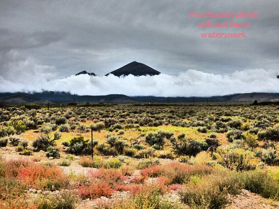Surreal Landscape Cloud Shrouded Mountain by LiveFreeTravel