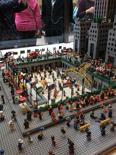 Rockefeller Center by Lego®   Flickr - Photo Sharing!