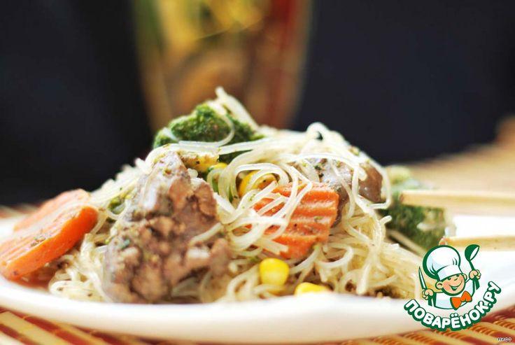 Салат теплый с фунчозой - кулинарный рецепт