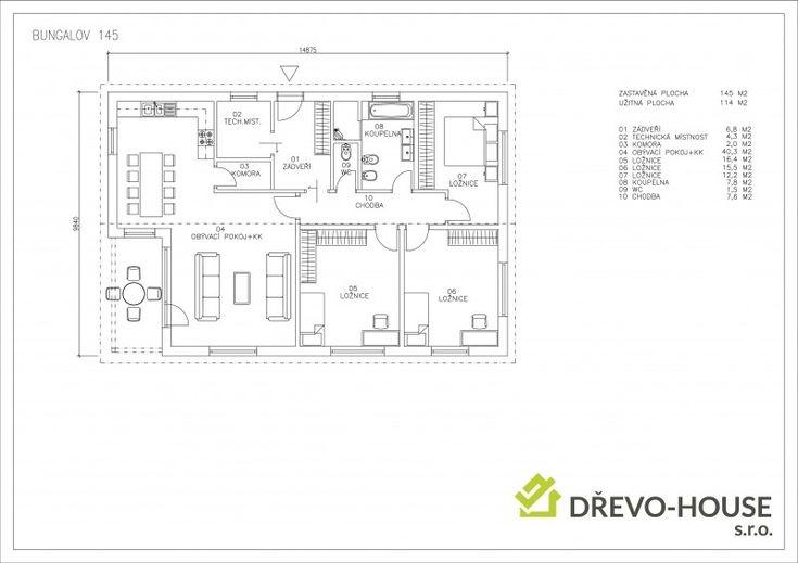 Dispozičně je navržen jako 4+KK. S velkým obývacím pokojem a krytou terasou, kde můžete trávit příjemné chvíle s rodinou i v období deště. Tento dům nabízí komfortní bydlení pro 4 člennou rodinu.