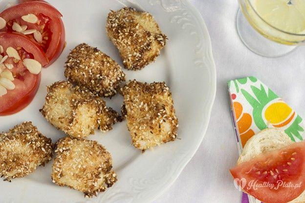 coconut-sesame chicken / pollo de coco y sésamo