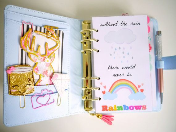 Super cute planner dashboard for all you planner lovers out there.  Made to fit personal sized planners like the medium Kikki K, A5 and pocket