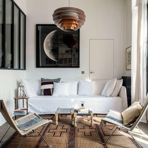 Appartement Paris 10 Avec Terrasse Decoration Salon Salle A Manger Decoration Salon Portes Interieures Grises