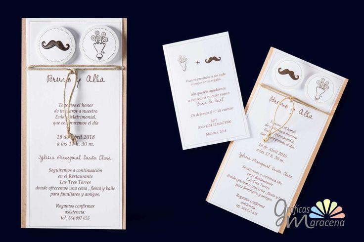 Invitación de boda Sr. & Sra.