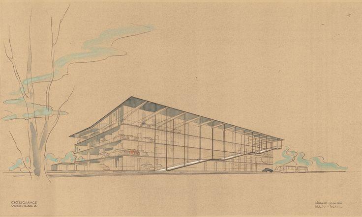 Paul Schneider Esleben, Haniel Garage, 1950-53. Düsseldorf. Architekturmuseum der TU München