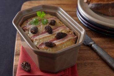 Recette de Terrine de volaille au foie gras et morilles