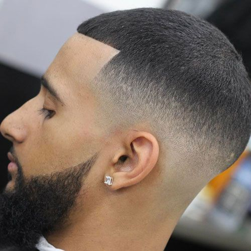 High Skin Fade + Line Up + Buzzed Top
