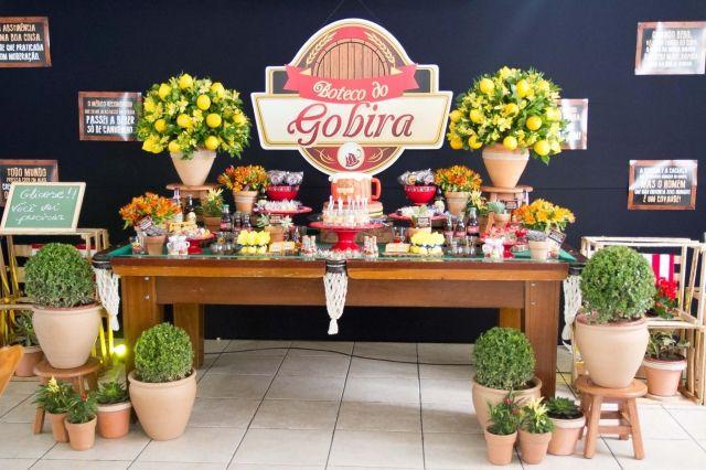 02Cha Bar Festa Boteco do Gobira serafina eventos mesa de doces mesa de bilhar