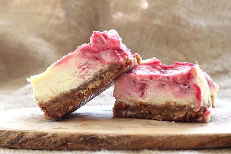 Vegan raspberry cheesecake bars. Raspberries – contain strong antioxidants such as Vitamin C, quercetin and gallic acid that fight against cancer, heart and circulatory disease and age-related decline. They are high in ellagic acid, a known chemopreventative, and have been shown to have anti-inflammatory properties. Recipe can be found here > http://www.fitchef.co.za/vegan-raspberry-cheesecake-bars/