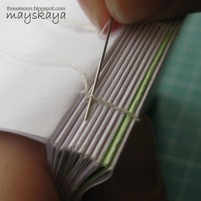 Binding your own book made easy with Olga Kotlyarova. Well written with great pics (lots of them too!).