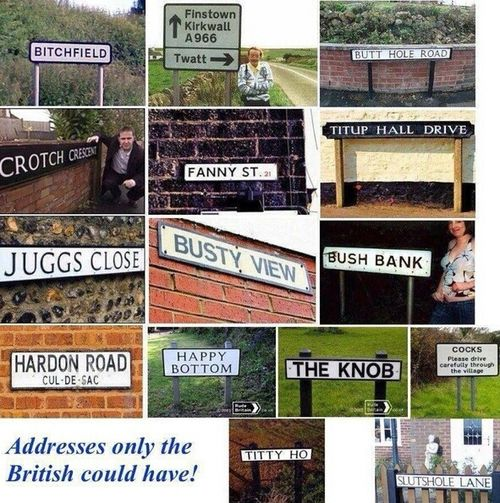 Funny British sign pictures: Funny Pics, British Address, Funny Signs, Funny Pictures, Roads Signs, Street Signs, Funny Stuff, British Geography, British Signs