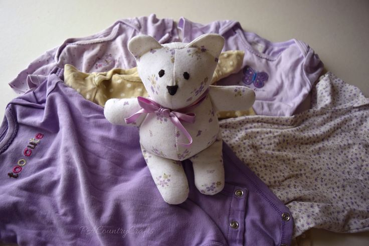 Make a memory bear from an outgrown baby onesie