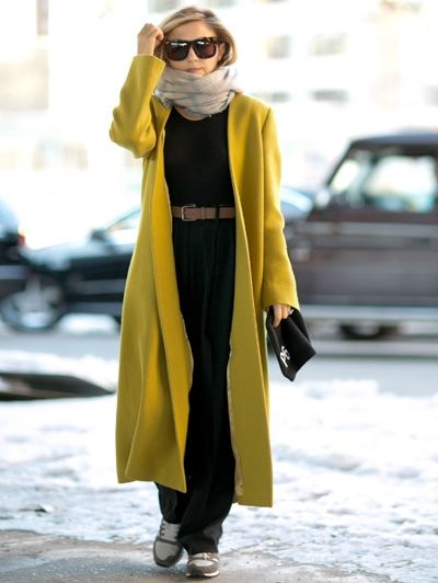 Lange gele jas @ New York Fashion Week - Zo zie jij er in een handomdraai op je paasbest uit – beloofd!
