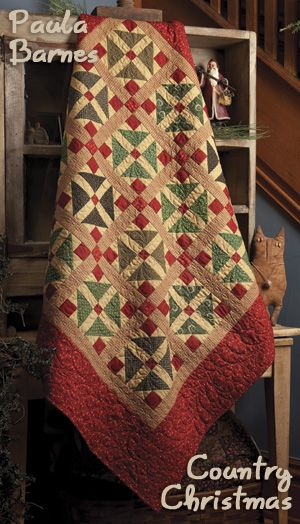 Country Christmas . . . by Paula Barnes - available in Primitive Quilts and Projects - Winter 2011