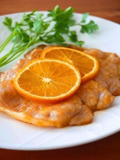 爽やかオレンジポークソテー♪旬のフルーツを使ったとっておきおかずレシピ@フルーツコラボ