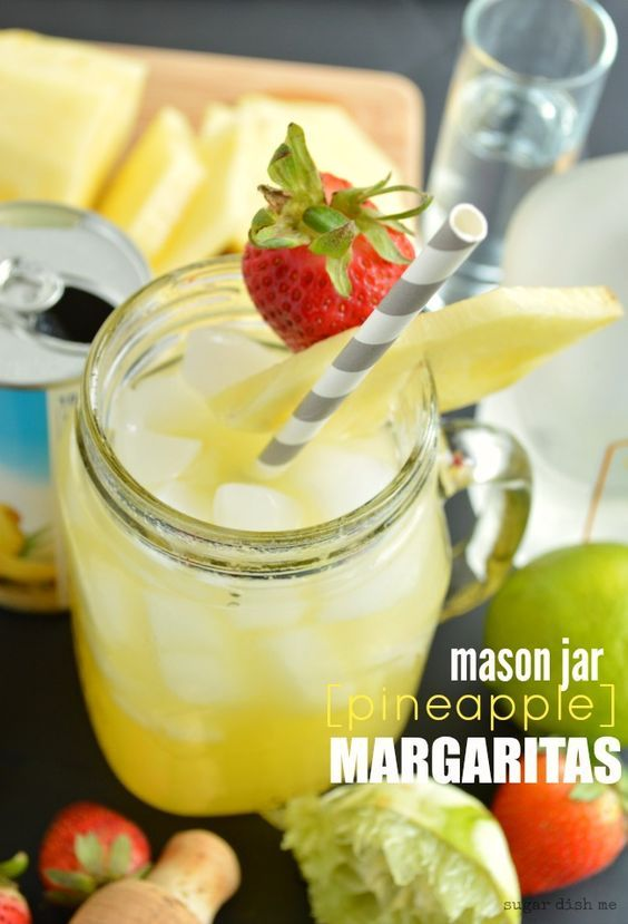 Mason Jar Margaritas - Sugar Dish Me - just pour, shake, and drink!