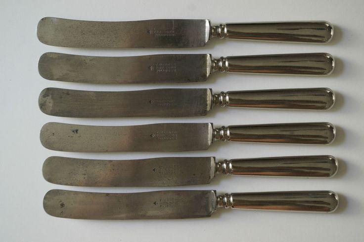 6 Vintage Friedr. Herder Abr. Sohn Solingen Germany Spade - SOLINGEN KNIFES