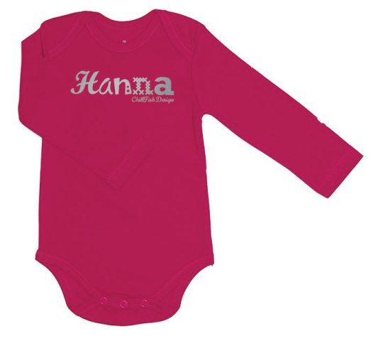 Looking for a personal baby gift? At ChillFish Design we we sell custom made ecolicious baby T-Shirts and bodysuits with the baby's name. This is our Good Looking bodysuit design, available at chillfishdesign.com.