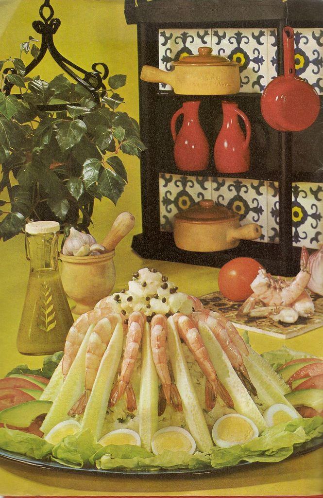 Shrimp And Potato Salad. The shrimp are feeding on the potatoes. (1971 ...