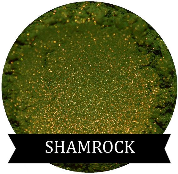 SHAMROCK Green Eyeshadow with Golden shimmer by SpectrumCosmetic $5.64