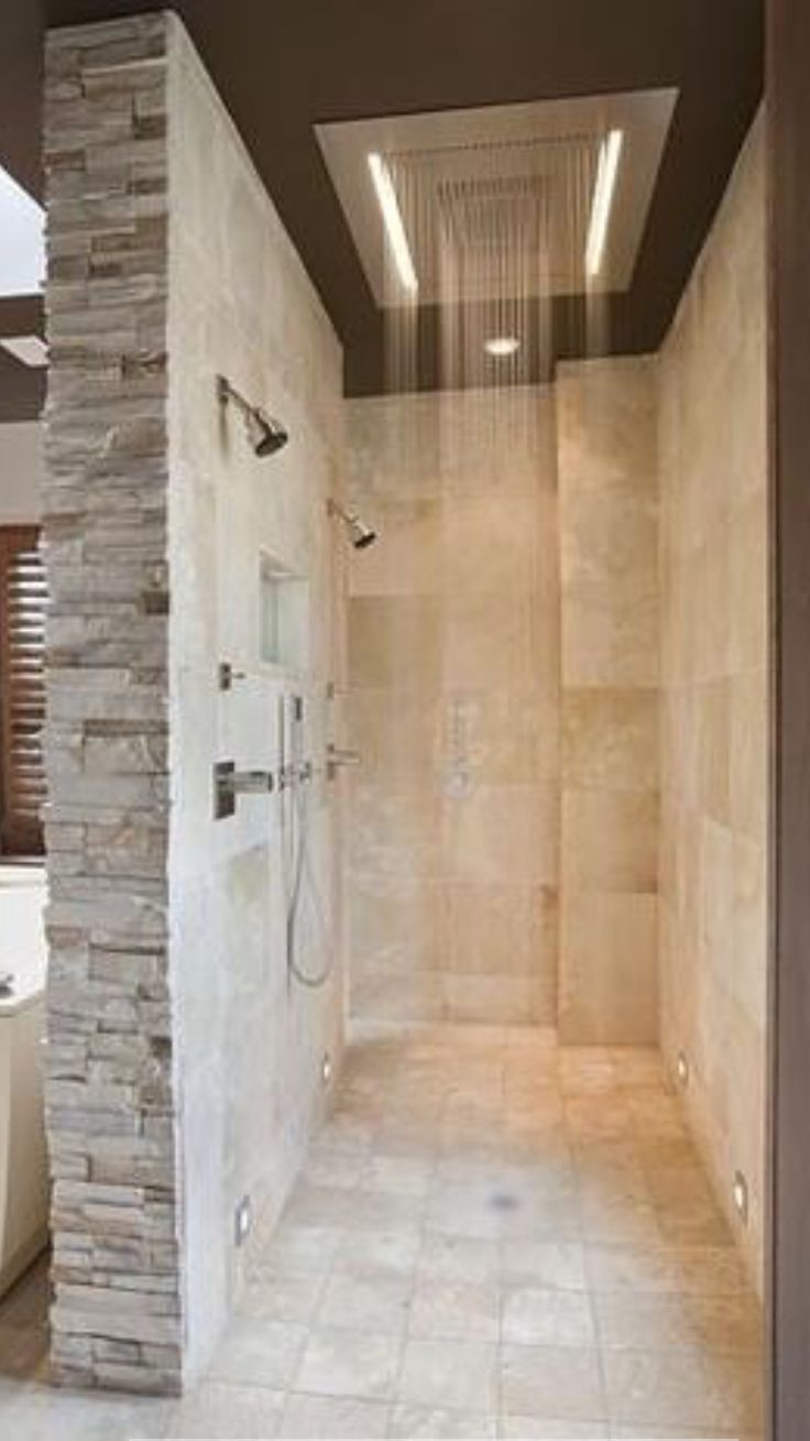 Bathroom rain showers - Glassless Shower Just A Visual As We Will Have A Glassless Shower