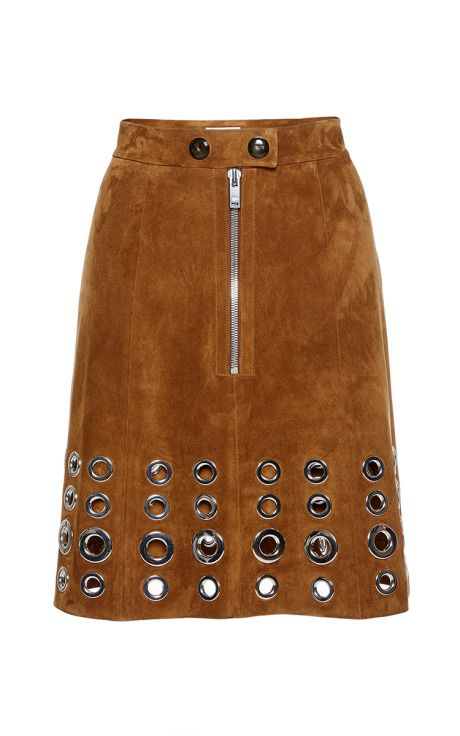 Skirt In Eyelet Suede by Sonia Rykiel for Preorder on Moda Operandi