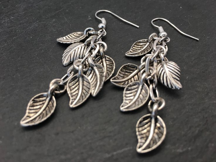 A personal favourite from my Etsy shop https://www.etsy.com/uk/listing/545204186/leaf-cluster-earrings-dangly-leaf