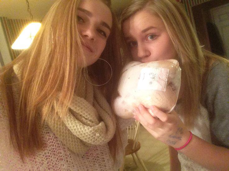 Me Brianne and chicken